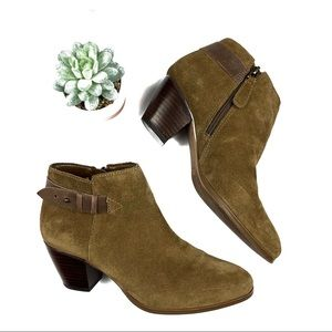 Guess Tan Suede Zipper Ankle Booties Size 7